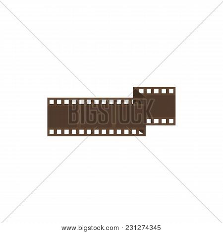 Cinema Film Strip Icon Flat Symbol. Isolated Vector Illustration Of Film Negative Sign Concept For Y