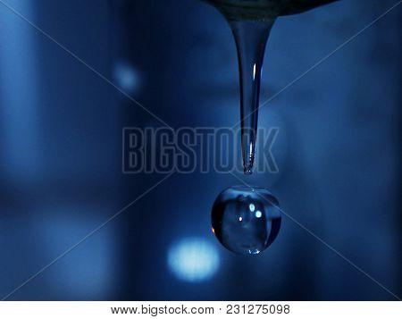 water drop flowing down - feel the slow motion