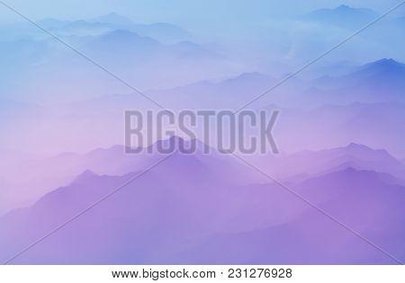 Serenity scene  Mountain silhouette