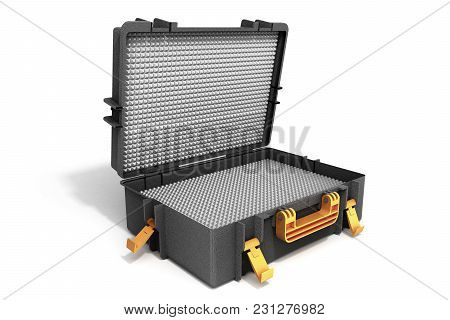 Open Tools Case 3d Render On White Background