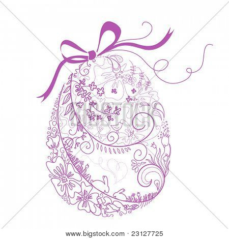 Stylized Easter Egg with Bow