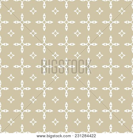 Vector Geometric Seamless Pattern With Square Grid, Lattice, Chains, Diamond Shapes. Luxury Golden O