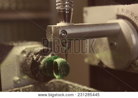 Process of jewelry creation. Milling machine