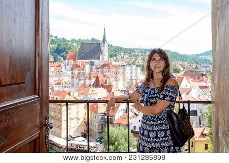 Girl In Cesky Krumlov