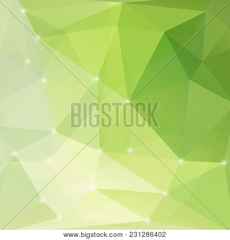 Modern Green Abstract Light Background Illustration Style Texture Triangle