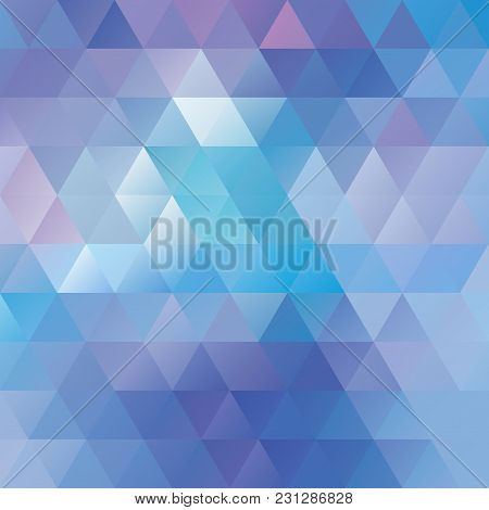 Modern Colorful Geometric Texture Consisting Of Triangles, Illustration.
