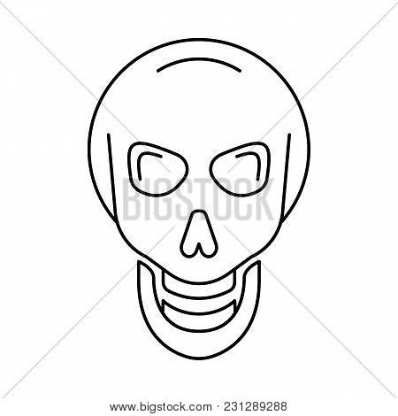 Viking Skull Icon. Outline Viking Skull Vector Icon For Web Design Isolated On White Background