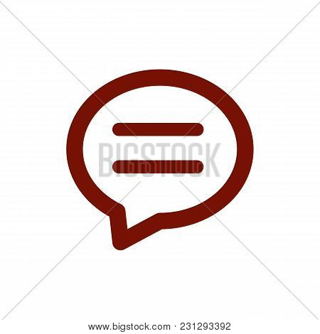 Chat Icon Isolated On White Background. Chat Icon Modern Symbol For Graphic And Web Design. Chat Ico