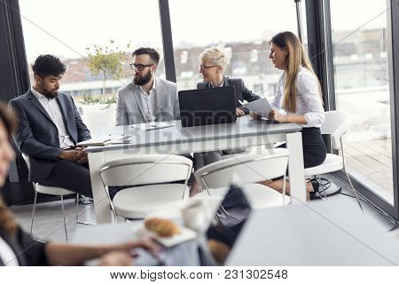 Business People Working Together In A Modern Open Office