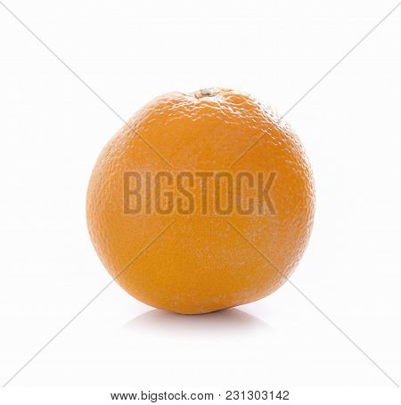 Orange Isolated Close Up On White Background