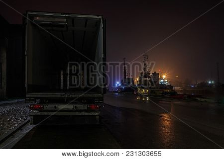 In The Evening, The Port Is Open Wagon