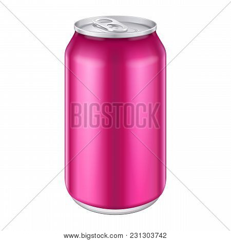 Violet Purple Magenta Pink Metal Aluminum Beverage Drink Can 500ml. Ready For Your Design. Product P