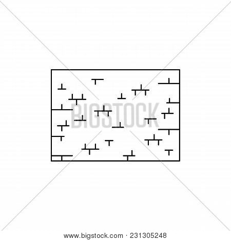 Wall Of Tears Icon. Outline Wall Of Tears Vector Icon For Web Design Isolated On White Background