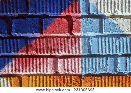Abstract Detal Of Street Art Design Close-up. Graffity Wall. Modern Iconic Urban Culture, Stylishgra