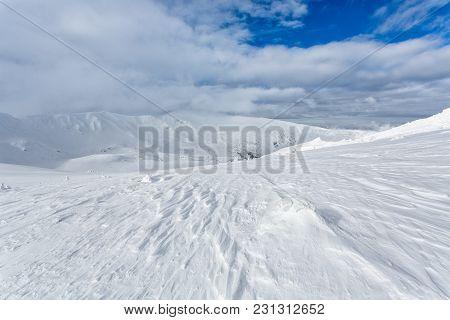 Snow-capped Peaks Of The Carpathian Mountains Ukraina