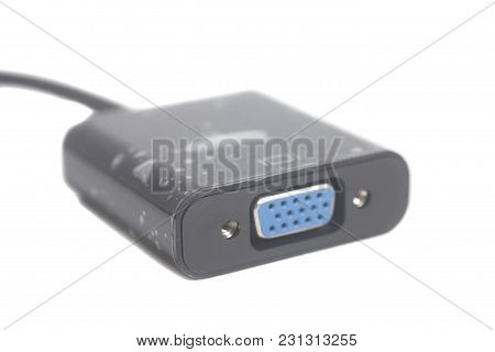 Hdmi  To Vga  Adapter Isolated On White