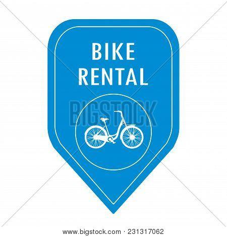 Bike Rental Icon, Isolated On White Background, Vector Illustration