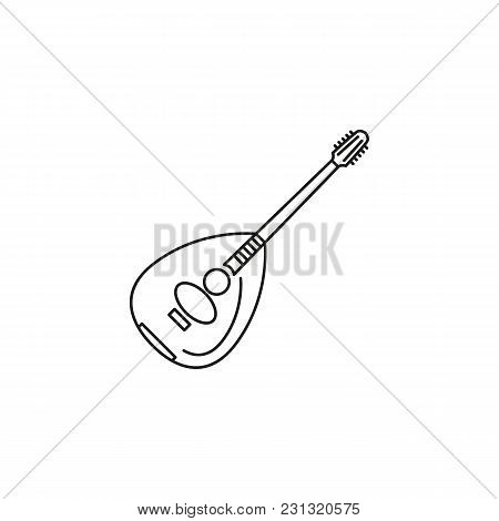Lute Icon. Outline Lute Vector Icon For Web Design Isolated On White Background