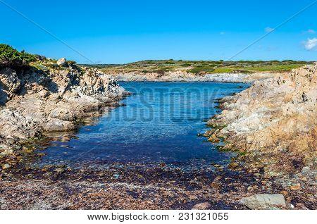 View Of The Beach Of Coscia Di Donna In Sunny Day