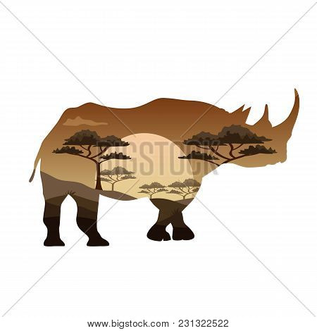 Vector Poster On Themes Wild Animals Of Africa, Safari, Animals Of The Savannah, Survival In The Wil
