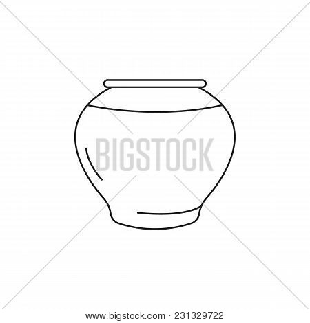 Vase Icon. Outline Vase Vector Icon For Web Design Isolated On White Background