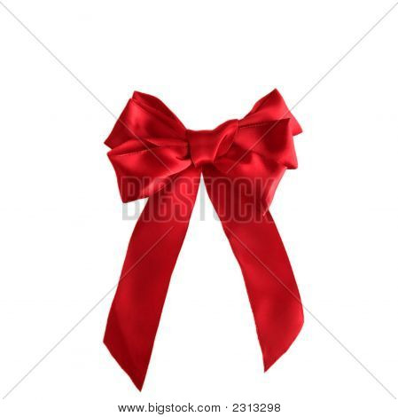 Holiday Red Satin Bow