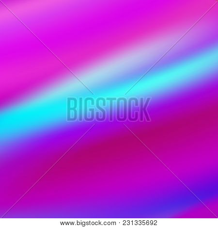 Purple Holographic Background. Vibrant Neon Pastel Texture. Hologram For Print And Web Design. Hipst
