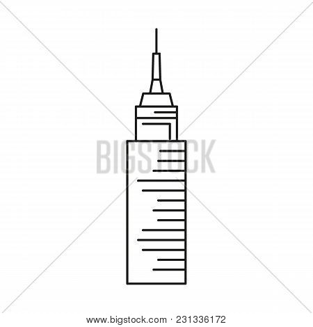Sky Tower City Icon. Outline Sky Tower City Vector Icon For Web Design Isolated On White Background