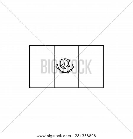 Mexico Flag Icon. Outline Mexico Flag Vector Icon For Web Design Isolated On White Background