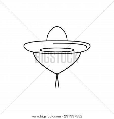 Sombrero Icon. Outline Sombrero Vector Icon For Web Design Isolated On White Background