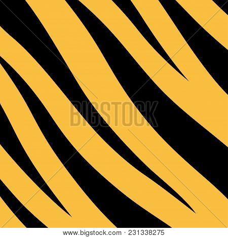Stripe Animals Jungle Tiger Fur Texture Pattern Yellow Orange Black