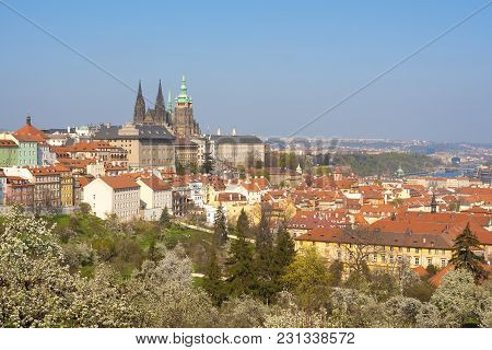 Prague - View Of Hradcany Castle And St. Vitus Cathedral
