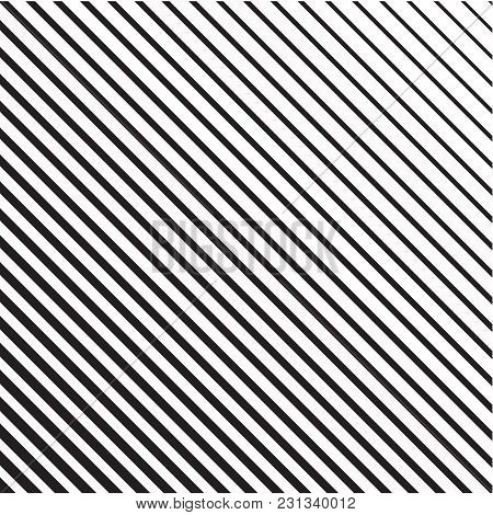Line Halftone Pattern With Gradient Effect. Diagonal Lines. Template For Backgrounds And Stylized Te