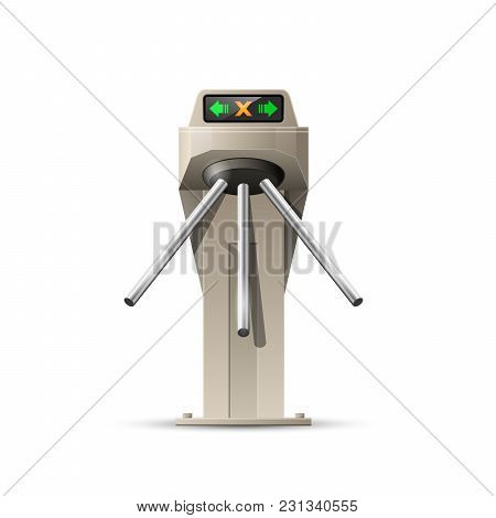 Turnstile Card Entrance - Security System Of Metro Station Access