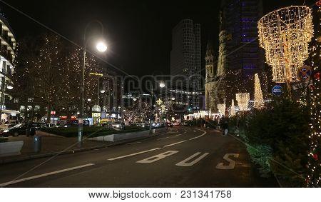 Potsdamer During Christmas In Berlin, Germany