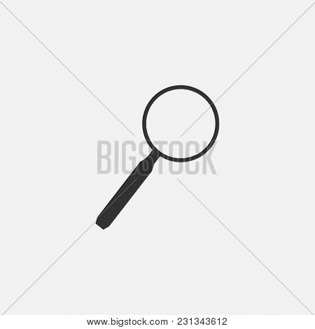 Vector Illustration Of Magnifier Web Line Isolated Icon