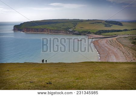 Beachy Head, Sussex, Uk - May 11 : The Belle Toute Lighthouse At Beachy Head In Sussex On May 11, 20