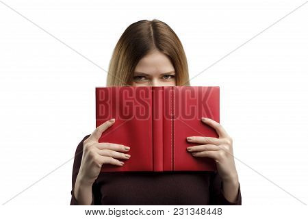Young Woman With A Book Studio Portrait.