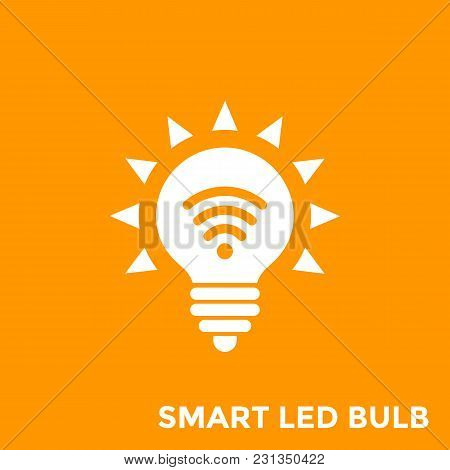 Smart Led Light Bulb Icon, Eps 10 File, Easy To Edit