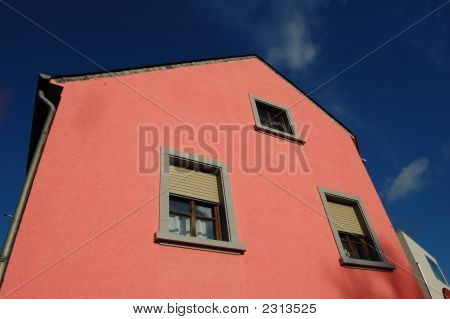 Pink Old Luxemboug House