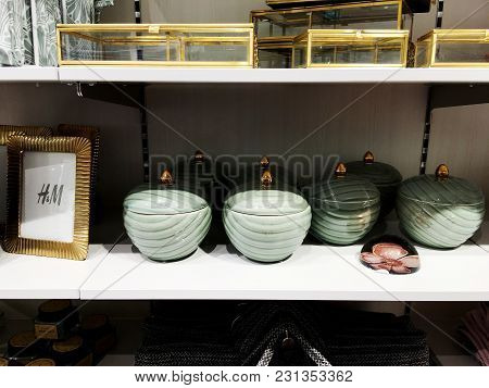 Rishon Le Zion, Israel- December 17, 2017: A Set Of Different Dishes Sold On The Shelves Of The Stor