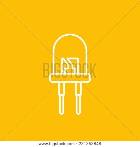 Light Emitting Diode Icon, Linear Style, Eps 10 File, Easy To Edit