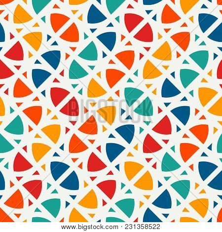 Bright Modern Print With Geometric Shapes. Contemporary Abstract Background With Repeated Figures. C