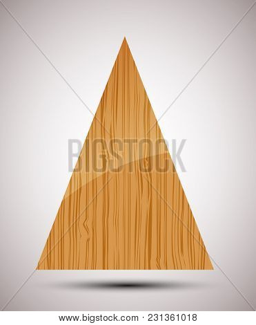 Abstract Wooden Christmas Tree. Seasonal Vector Illustration