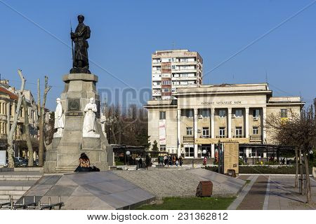 Haskovo, Bulgaria - March 15, 2014: Monument Of Fallen In Wars In The Center Of City Of Haskovo, Bul