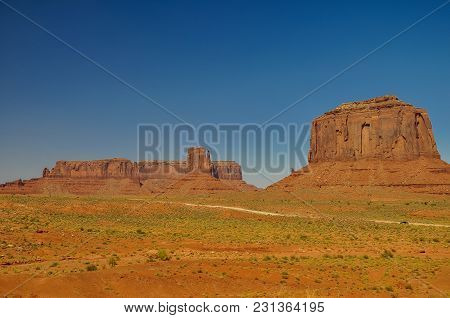 View Of Iconic Monument Valley In Arizona