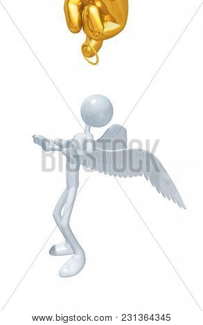 The Original 3D Character Illustration Angel Accused