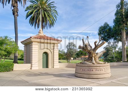 Balboa Park Entrance And Sculpture