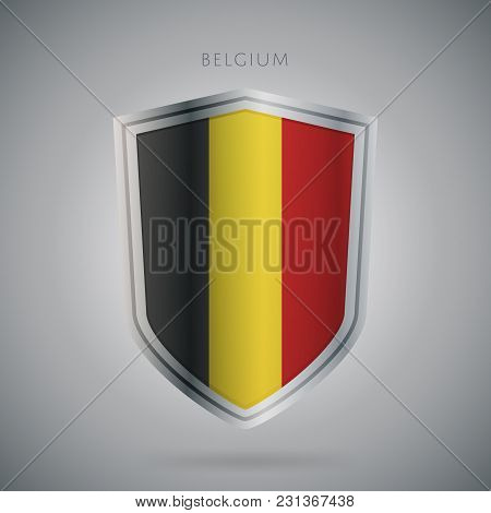 Flags Europe Vector Icon. Belgium Flag, Isolated. Modern Design. National Country Flag. Country Of M
