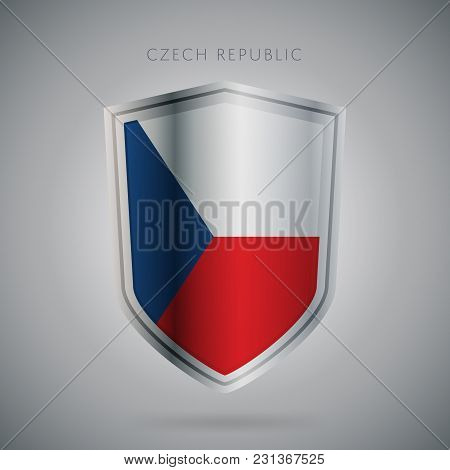 Flags Europe Vector Icon. Czech Republic Flag, Isolated. Modern Design. National Country Flag. Count